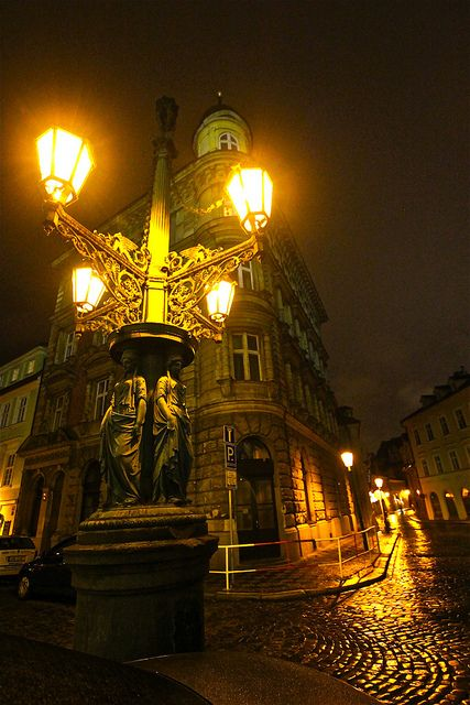 Prague, magical night streets