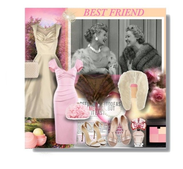 """BEST FRIEND"" by angelflair ❤ liked on Polyvore featuring Mink, Stop Staring!, Glint, Betsey Johnson, Laura Mercier, BCBGMAXAZRIA, dELiA*s and Ippolita"