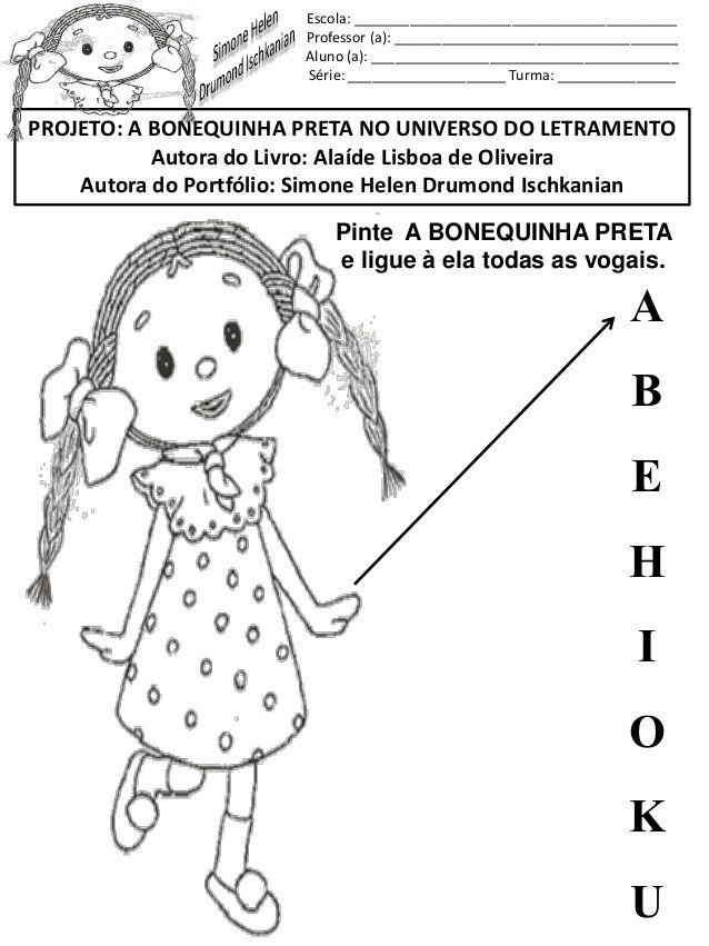 A Bonequinha Preta Boneca Preta Bonecas Atividades Para