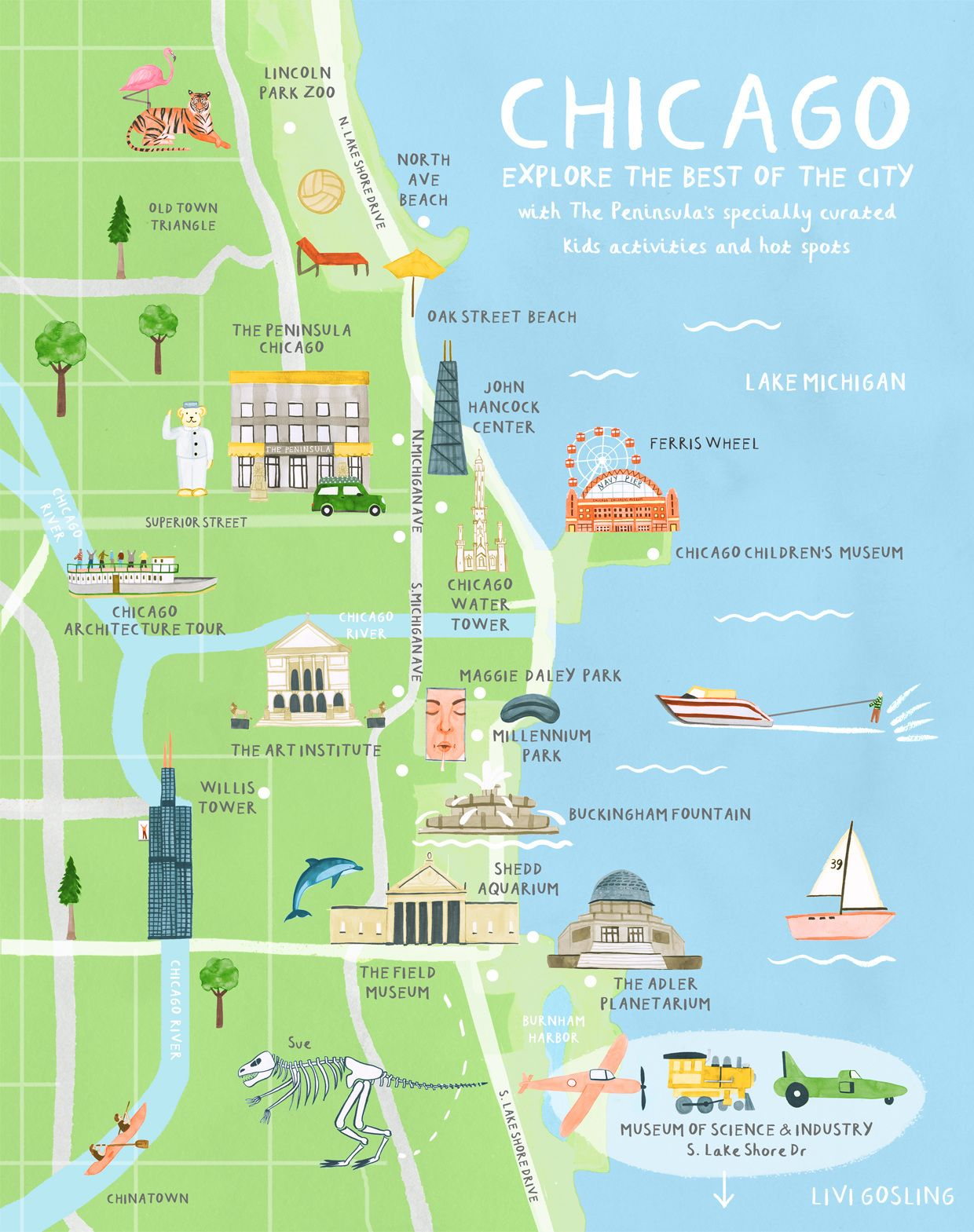 Selected Work For Tresco Island  The Tresco Times Illustrated - Chicago map attractions