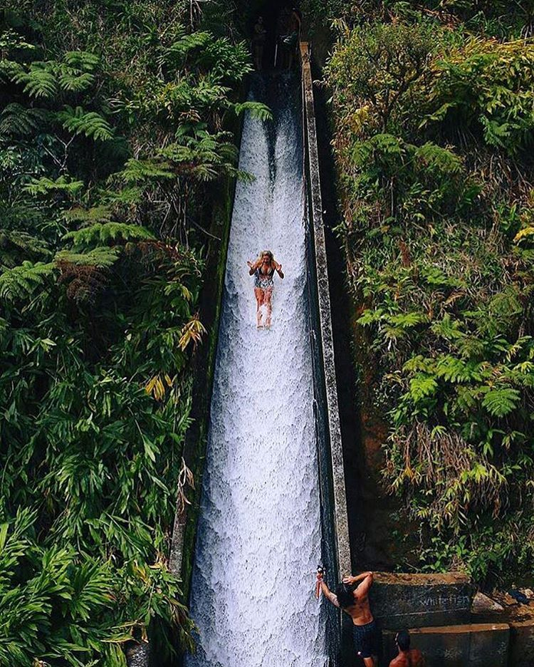 Hawaii has a secret water slide and its epic viva