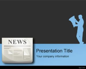 press release powerpoint template is a free news media powerpoint, Presentation templates