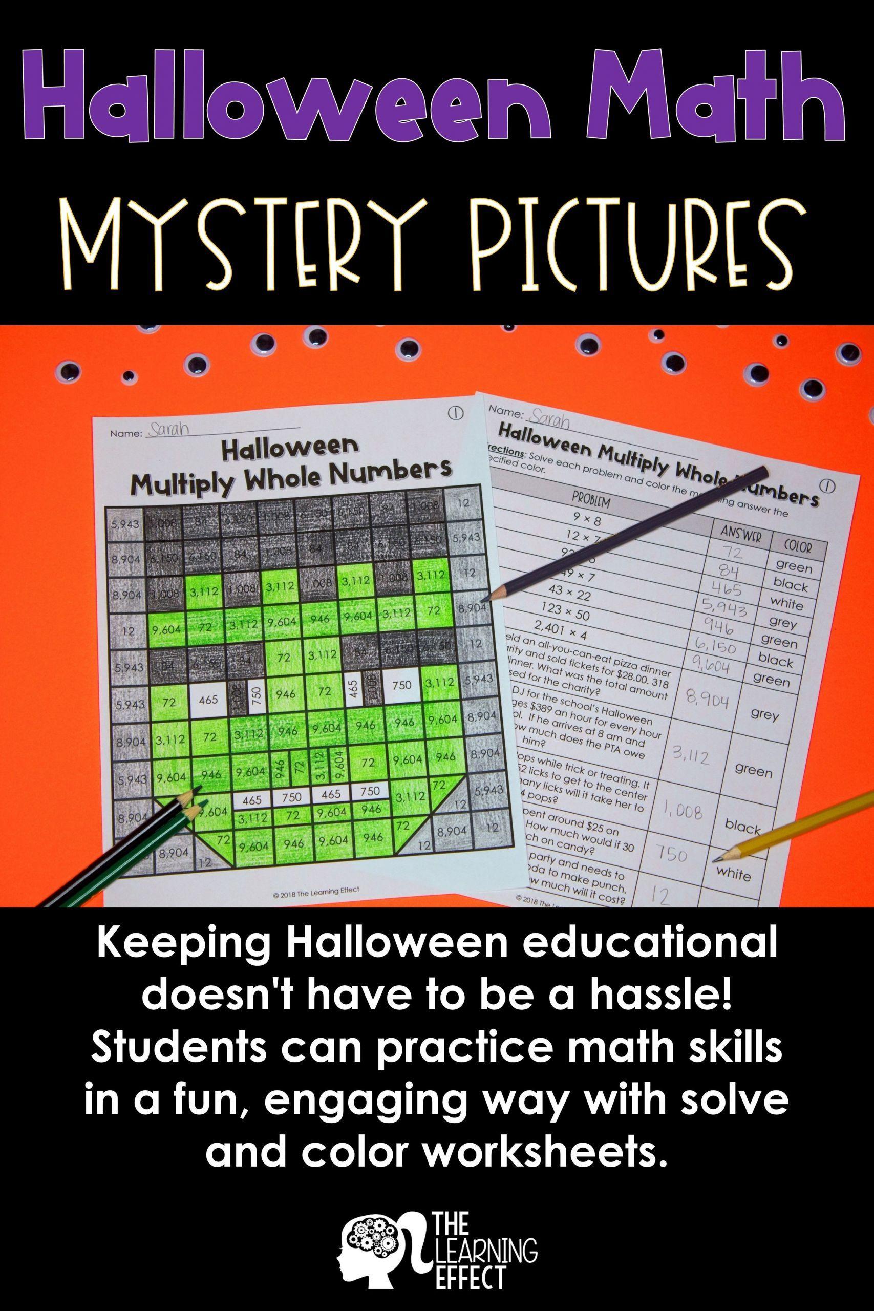 7 Halloween Multiplication Worksheets In