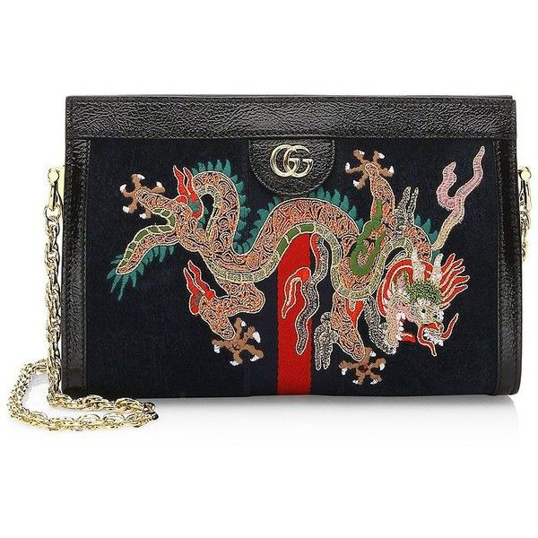 637a5aaaea5 Gucci Small Dragon Suede Clutch ( 2