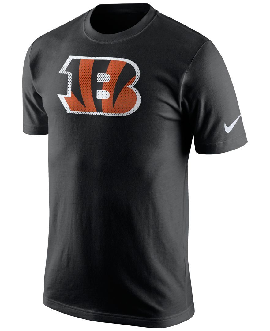 Nike Men's Cincinnati Bengals Mesh Logo TShirt Mens