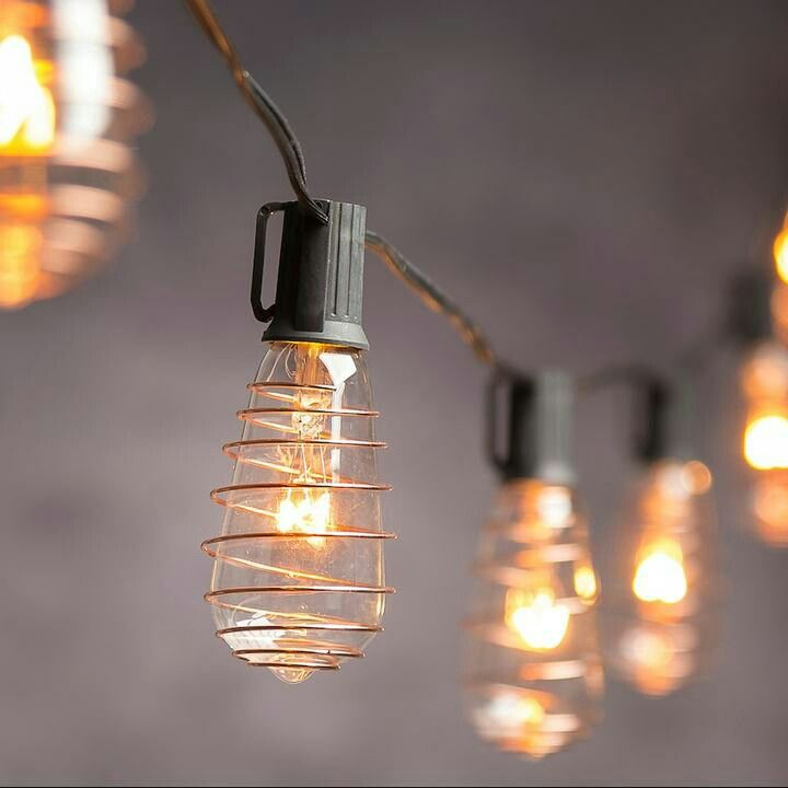 Cleveland Vintage Lighting Indoor / Outdoor Copper Finish Edison Bulb String Lights #shopstyle #affiliate
