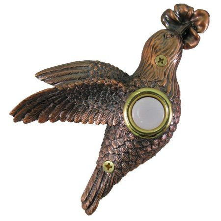 BALD EAGLE LIGHTED BUTTON DOORBELL COVER BY COMPANY/'S COMING