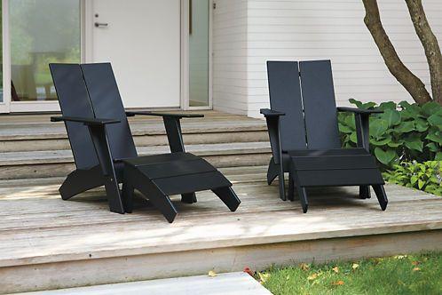 Emmet Outdoor Lounge Chair Ottoman Modern Outdoor Chairs