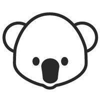 Koala Face Coloring Pages Surfnetkids Koala Color Coloring