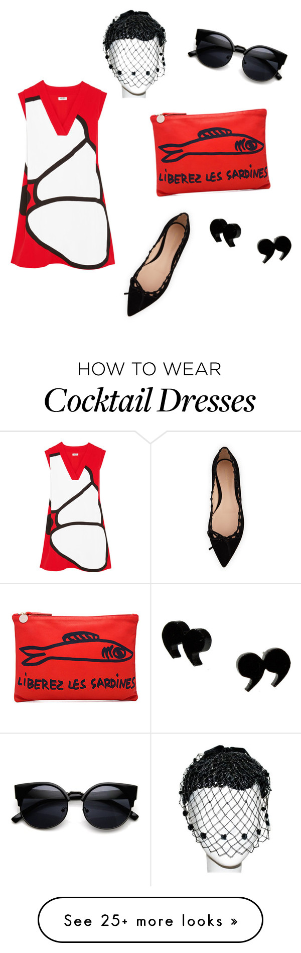 """""""Black and Red"""" by hillary-raque-dodge on Polyvore featuring Clare V., Kenzo and Gianvito Rossi"""