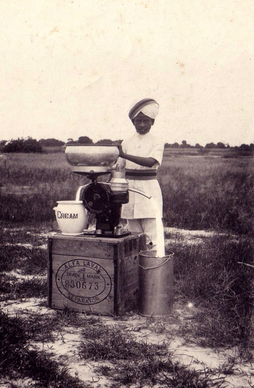 Cream separator brought in from England by Sir Edward Keventer. Revolutionising the old ways of separating with hands, he was the real pioneer in India during British raj
