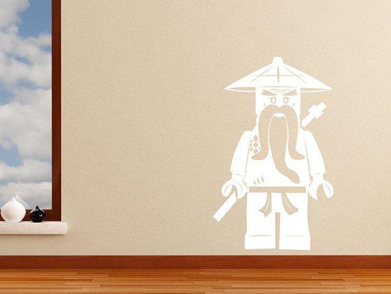 Ninjago Sensei Wu Vinyle Autocollant Mural Decal Kids