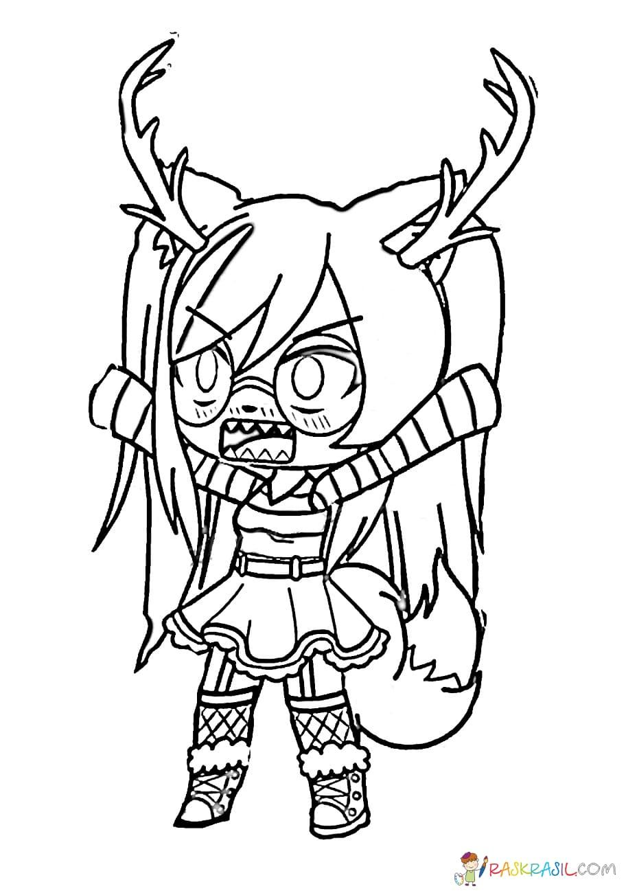 Gacha Life Coloring Pages Unique Collection Print For Free In 2020 Zoo Coloring Pages Cute Coloring Pages Coloring Pages