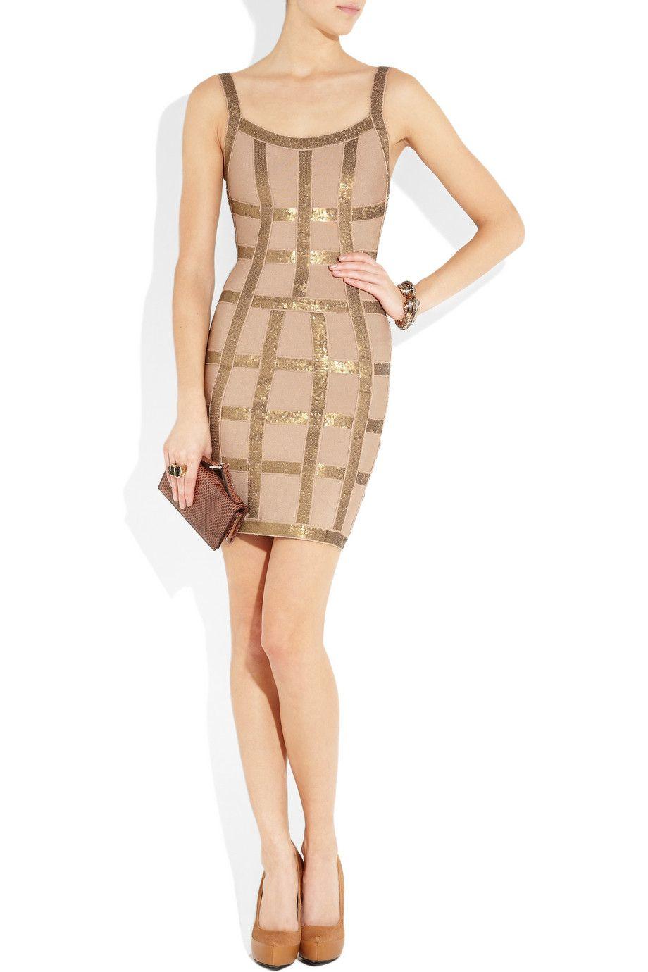 Herve leger sequined bandage dress if i had a million dollars i