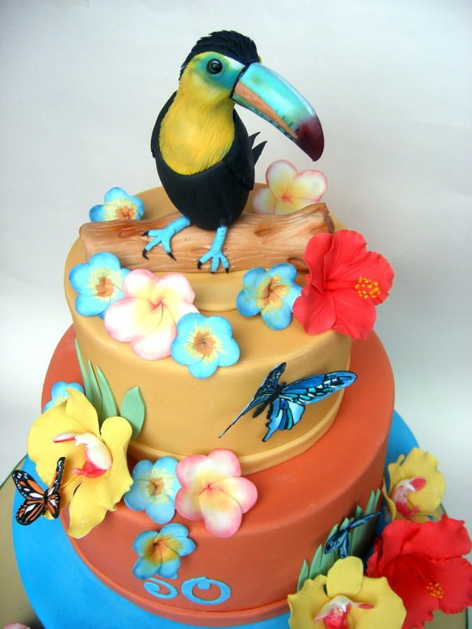 Hawaiian Themed Birthday Cake Cakes Amp Cake Decorating