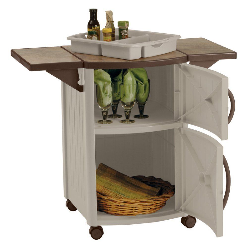 Outdoor Prep Station Cabinet Patio Serving Cart Bbq Storage Table Rolling Grill Grillprepstation Patioservingcar Patio Cabinet Bbq Table Outdoor Grill Island
