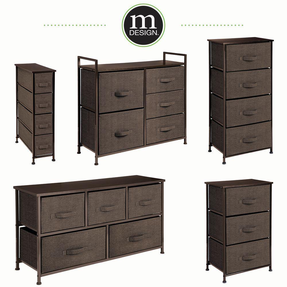 Wide Dresser 5 Drawer Storage Tower Organizer Unit In Black