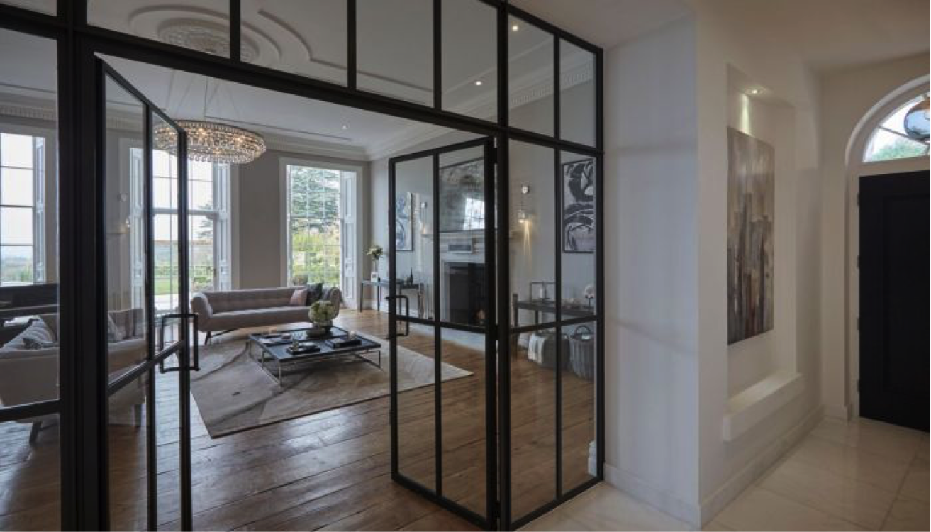 The Stunning W20 Steel Frames In Matt Black Grey Were Chosen To Complete This Beautiful Residential Project By Glass Doors Interior Internal Glass Doors House