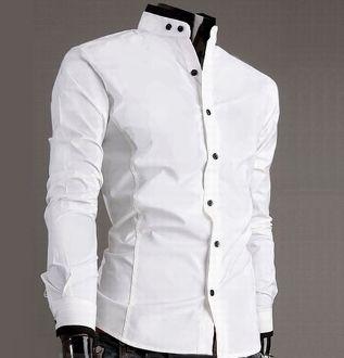 296c9b3da3f Men s Mandarin Collar Button-Up Shirt
