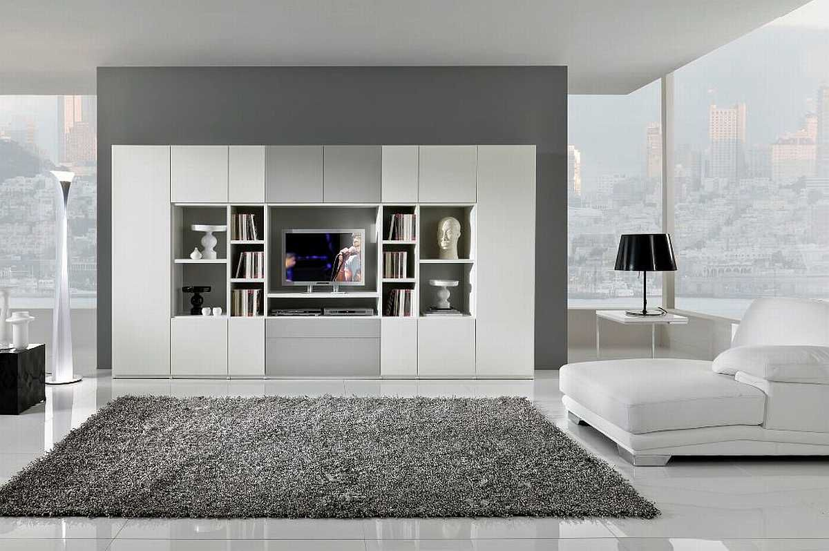 Modern Living Room Black And White interiors design -