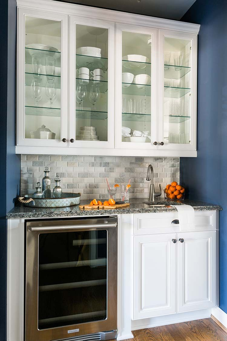 home depot kitchen refacing pos display system my you won t believe the difference refaced butler i really like backsplash and blue color