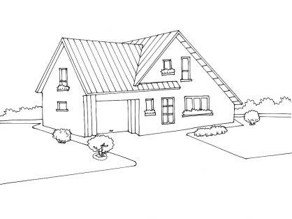 Coloriage maison 7 tipos de vivienda pinterest - Dessin de belle maison ...