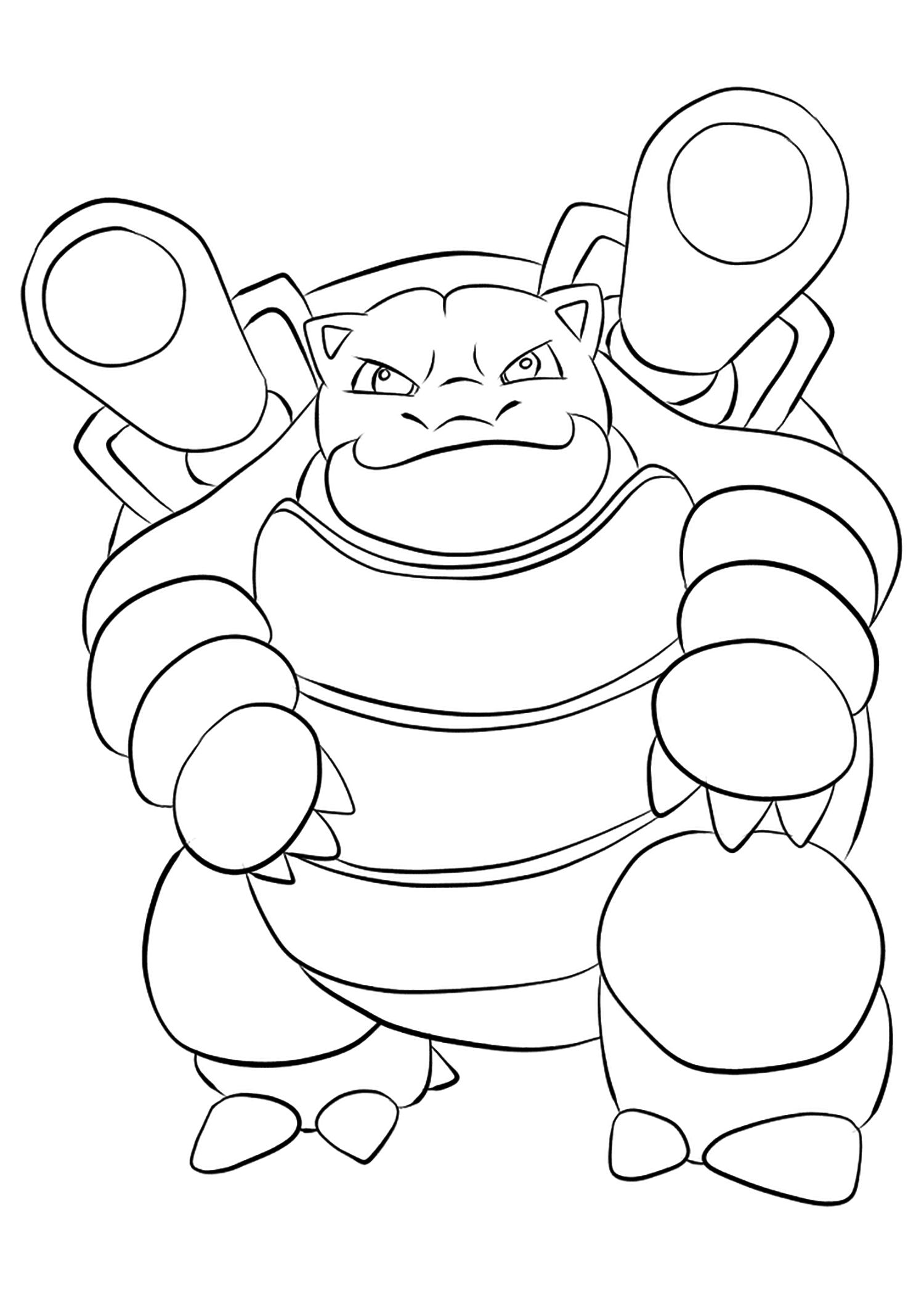 Blastoise Colouring In | 101 Coloring Pages