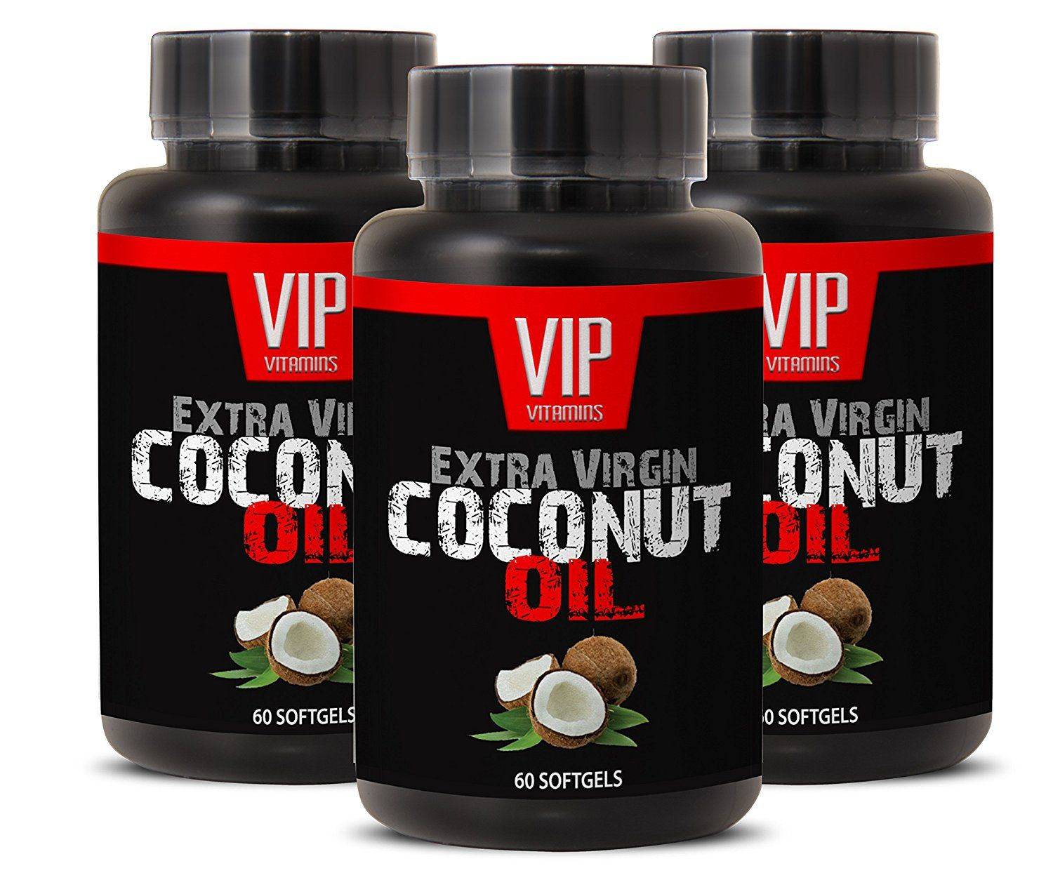 Buy herbal coconut weight loss - Natural Coconut Oil Softgels 3000mg Healthy Energy And Weight Loss Supplement 3 Bottles 180