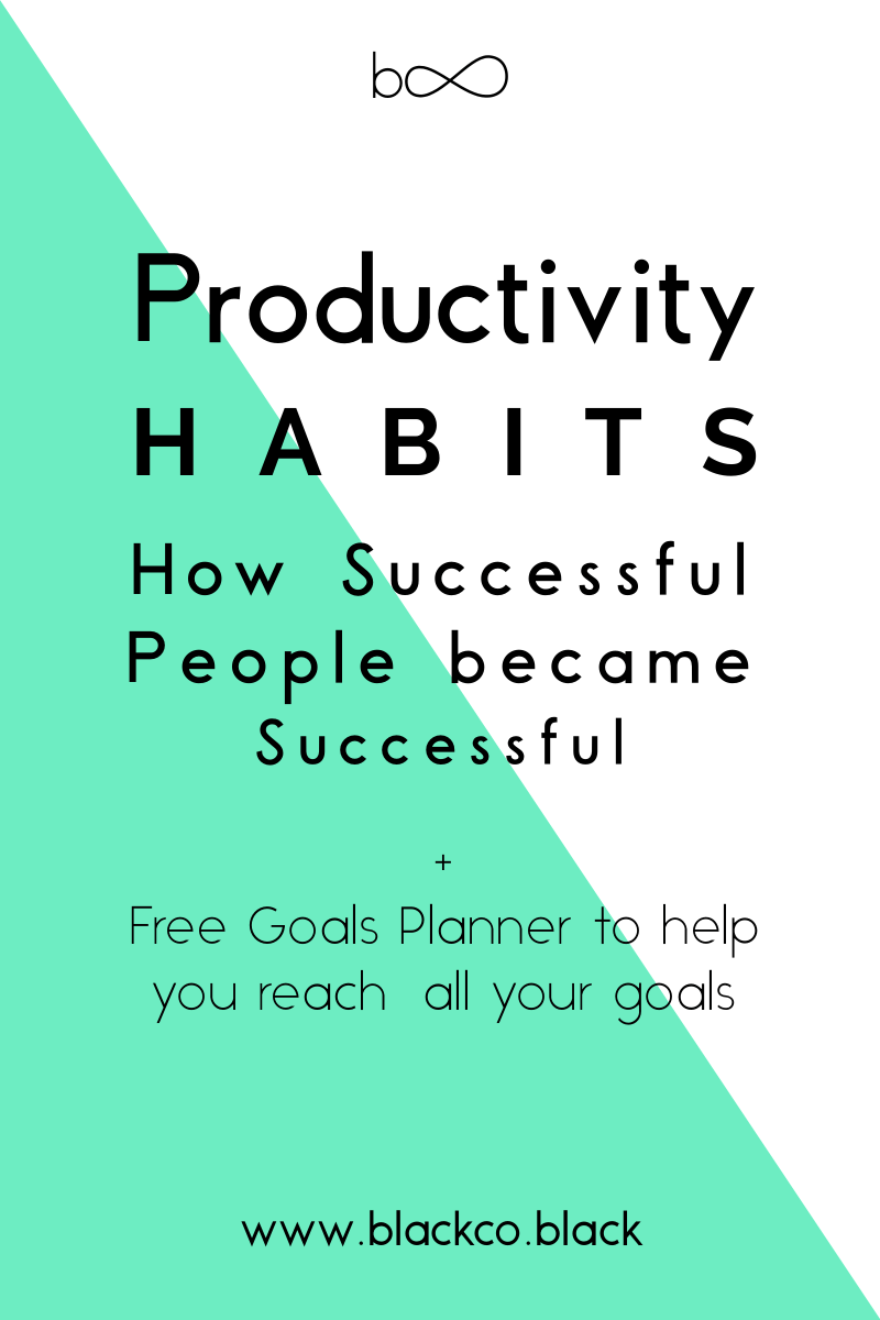 Productivity habits. How successful people became successful? After a lot of research, I sum up in just 3 habits. Check out and then try different things and create your own productive routine. Get you Free Monthly Goals Planner!