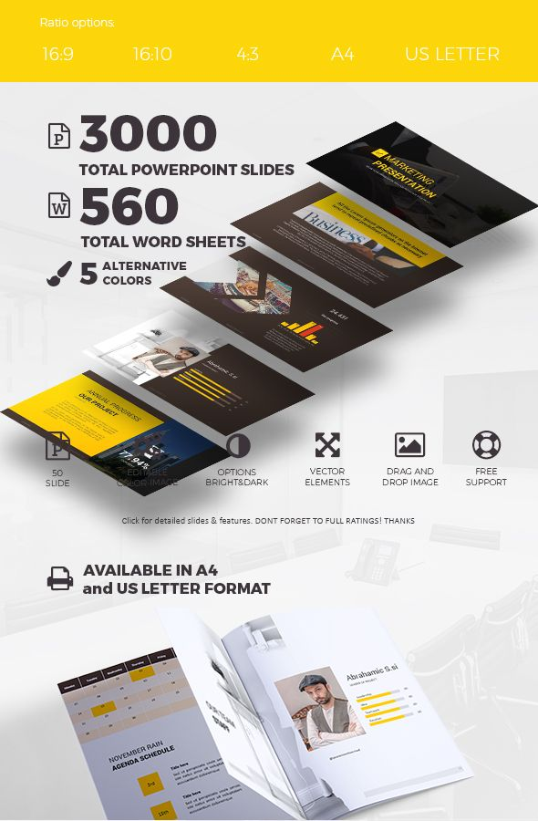 presentation template - powerpoint and word | template, words and, Powerpoint templates