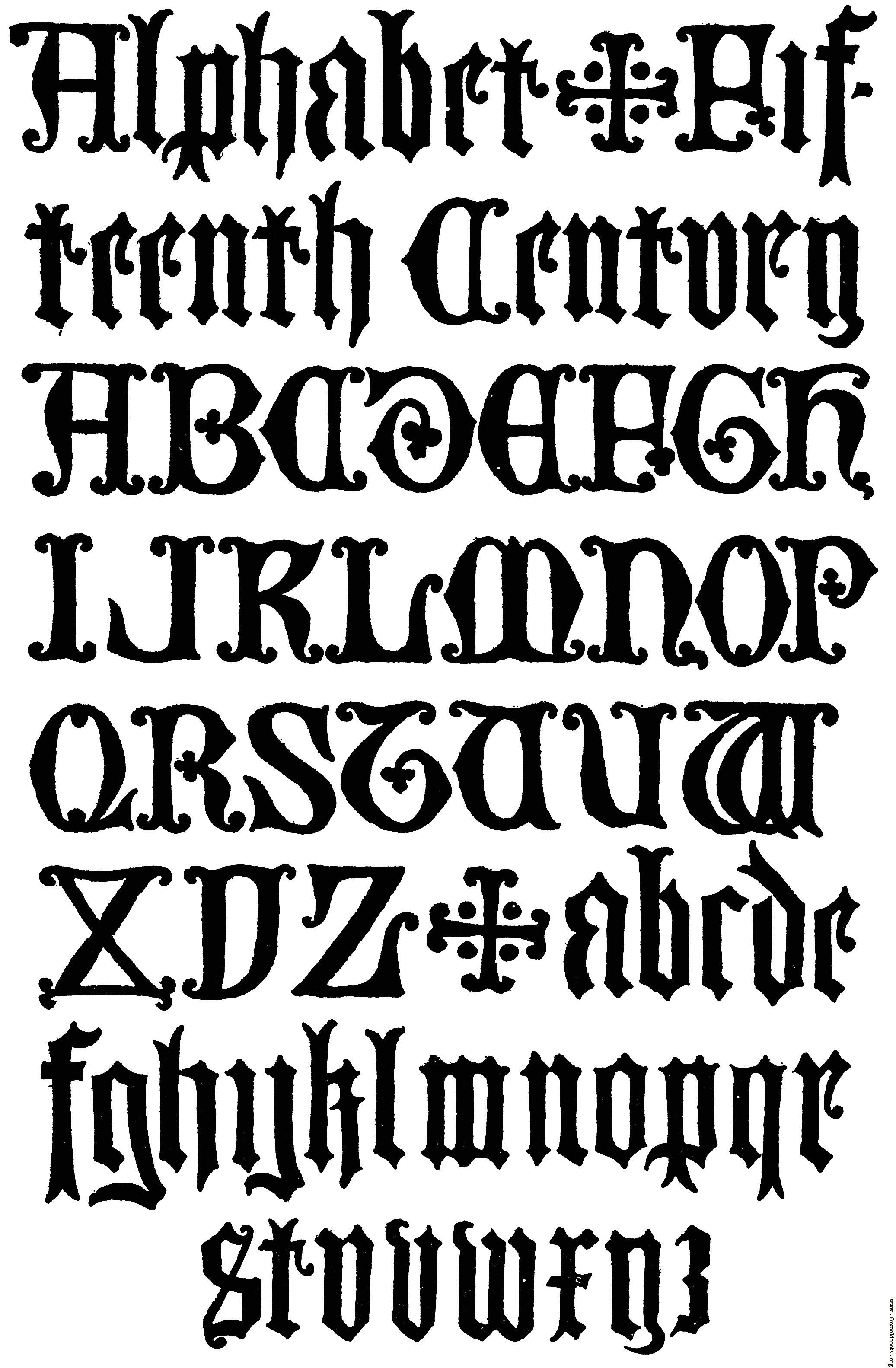 Old English Typography