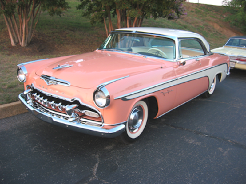 1955 DeSoto Fire Flite 2Dr. H.T. Pink and White. Desoto