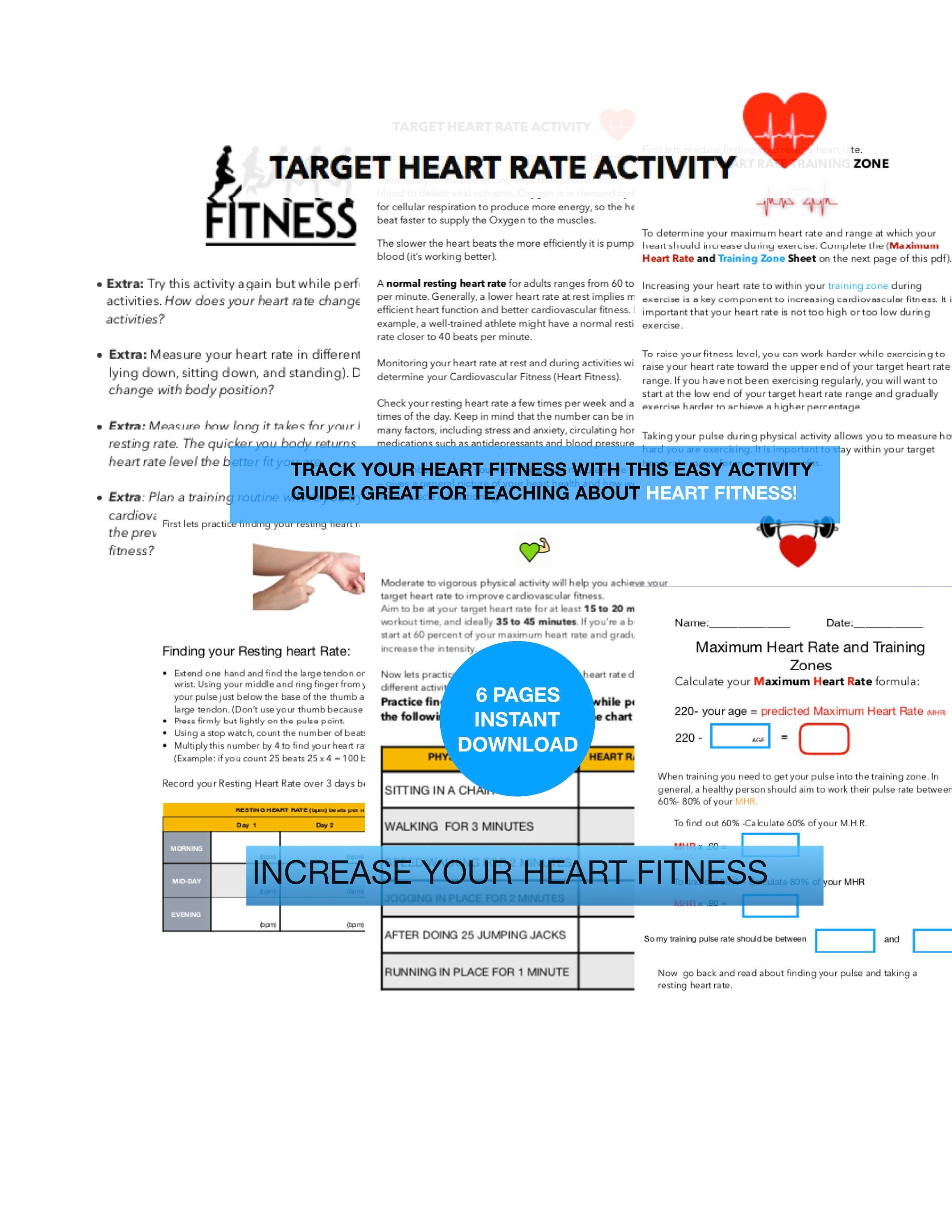 Heart Rate Fitness Lab Exercise Log Cardiovascular