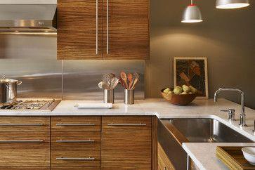 Zebra Wood Cabinets Door Shape Kitchen Wooden