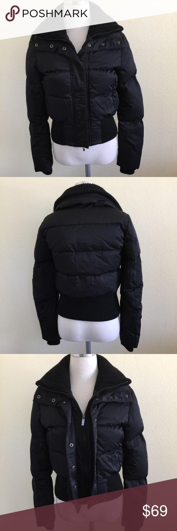 Theory Black Down Puffer Bomber Jacket Xs P Tp Fashion Clothes Design Fashion Design [ 1740 x 580 Pixel ]