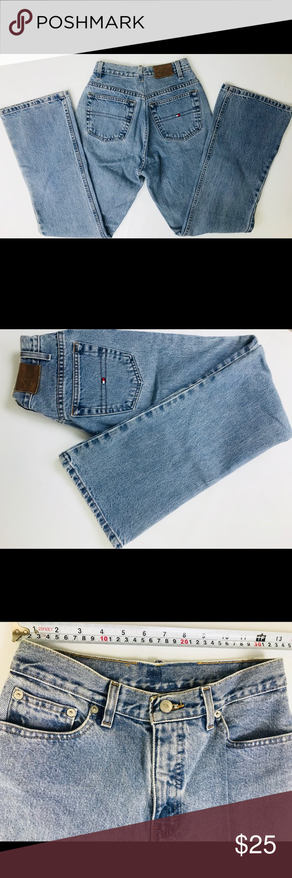 Tommy Hilfiger Jeans with used look, black