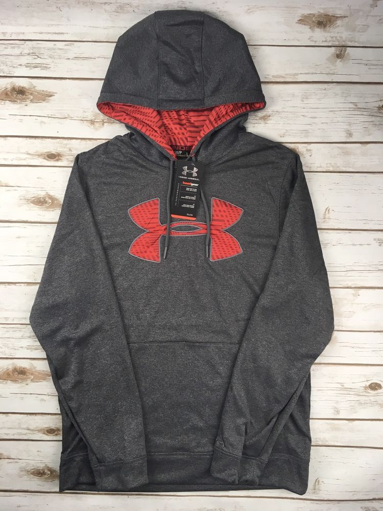 New Under Armour Men/'s Armour Fleece Team Hoodie BLACK Size Large NWT