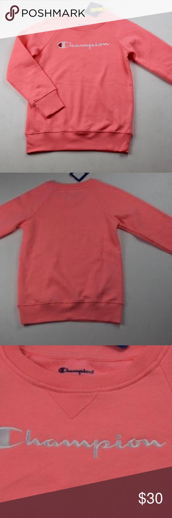 Nwt Girls Champion Sweatshirt Champion Sweatshirt Long Sleeve Tshirt Men Sweatshirts [ 1740 x 580 Pixel ]