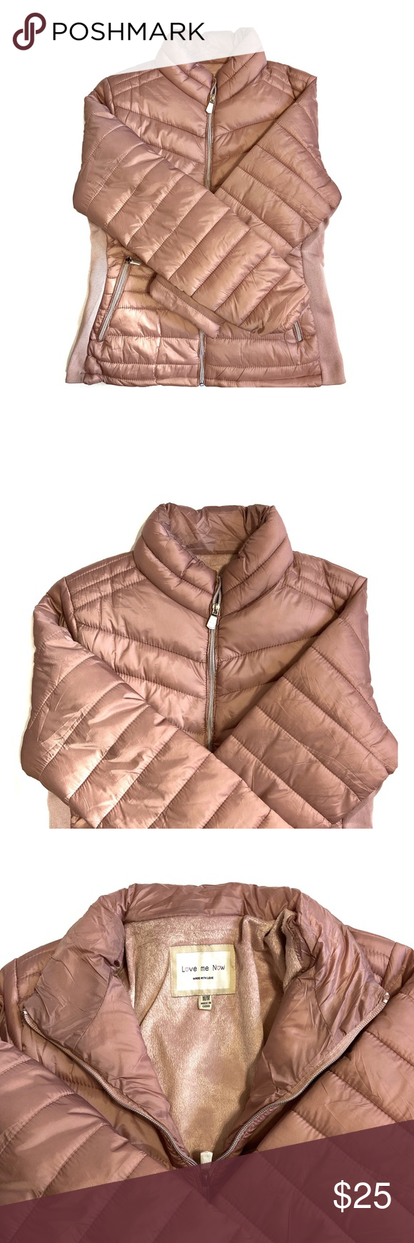 Dusty Rose Winter Puffer Jacket Dusty Rose Winter Puffer Jacket New With Tags Women S Size Medium Runs Small Winter Puffer Jackets Jackets Winter Outfits [ 1740 x 580 Pixel ]