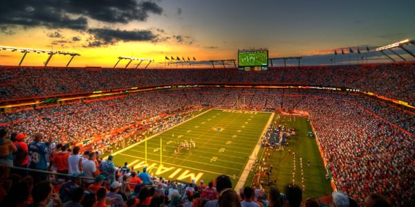 Miami Has The Dolphins The Greatest Football Team They Take The Ball From Goal To Goal Like Sun Life Stadium College Football Tickets Miami Dolphins Stadium