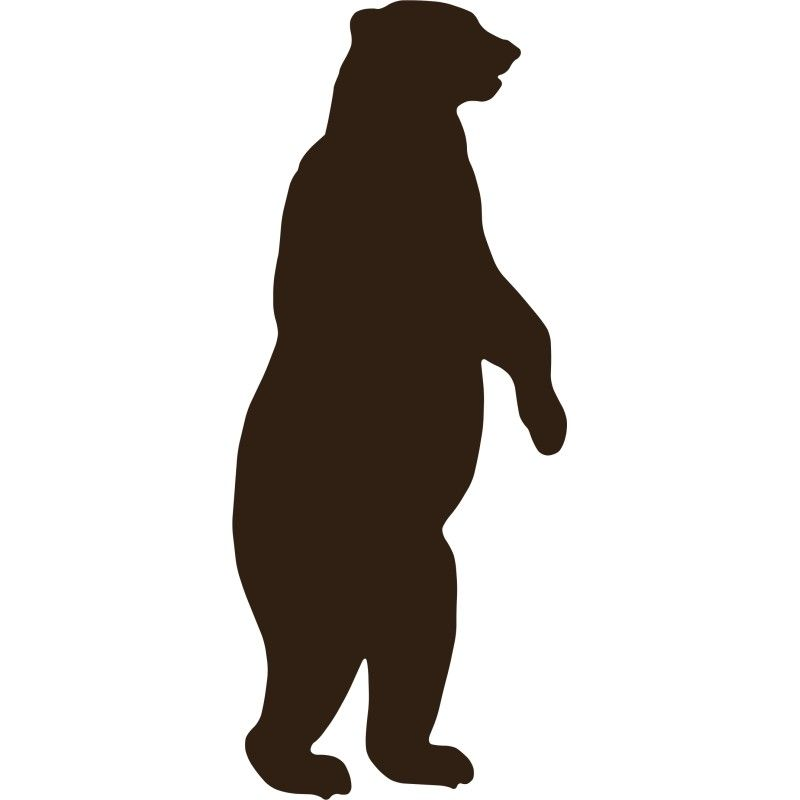 Standing Grizzly Bear Silhouette images | Room | Pinterest ...