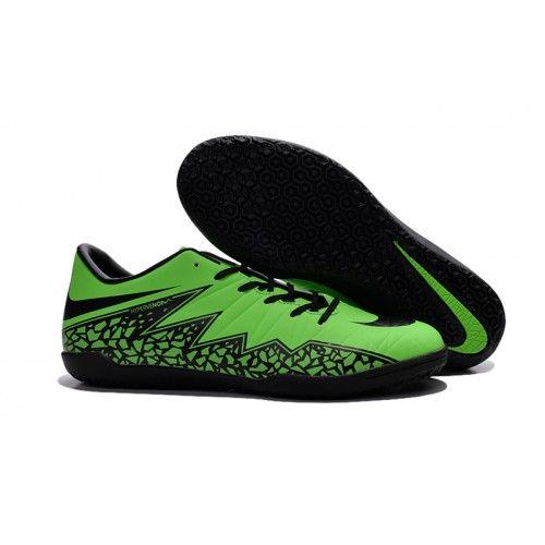 billig nike hypervenom phelon ii ic fotballsko for menn grønn svart