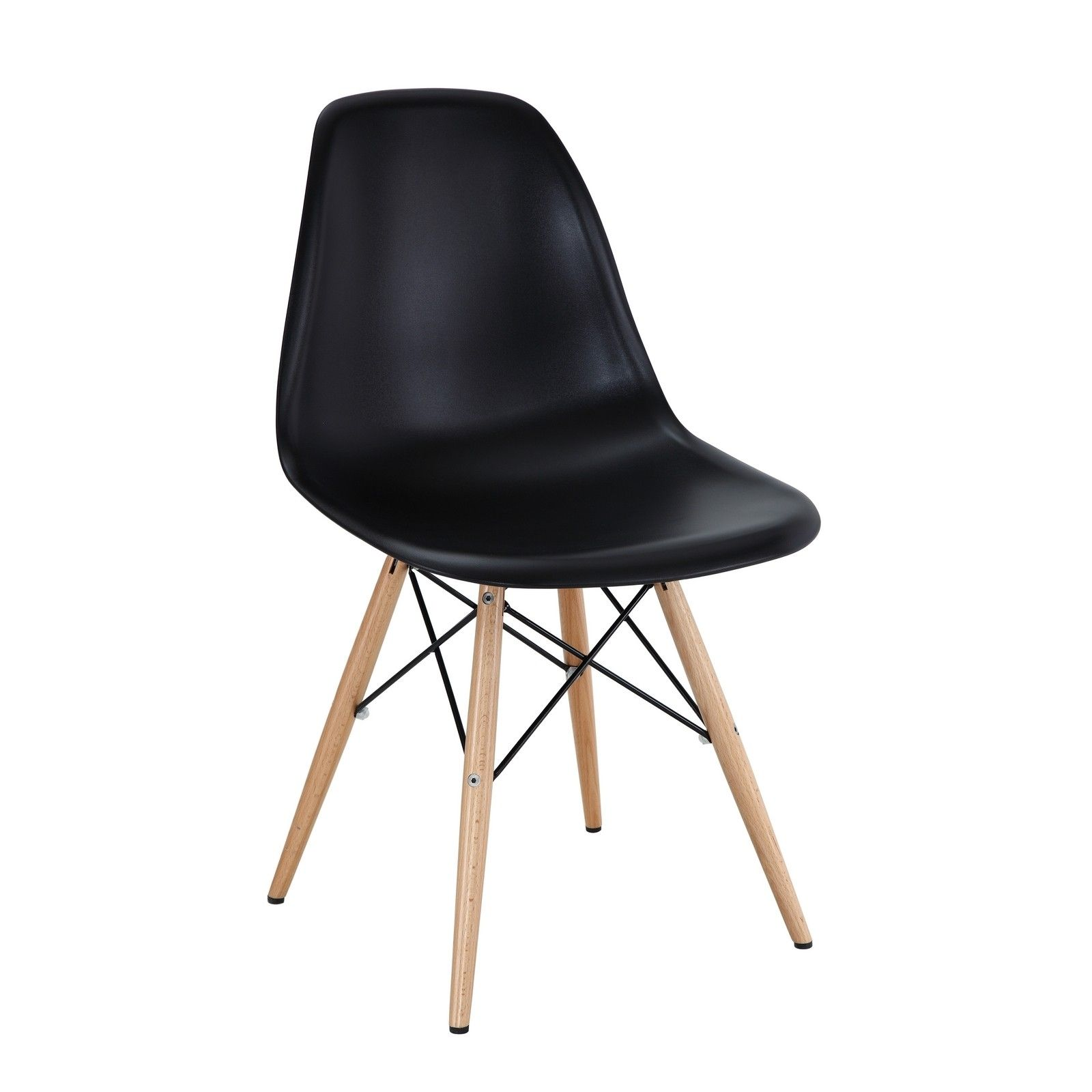 Eames Style Dining Chair With Wood Legs Multiple Colors