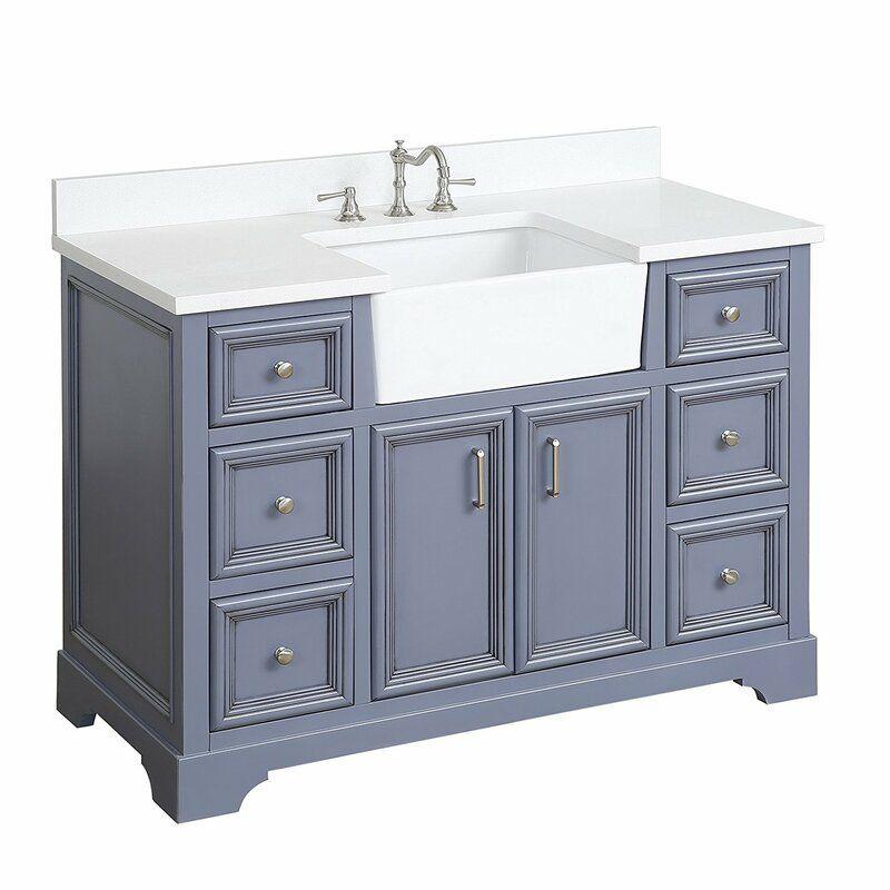 Heath 48 single bathroom vanity set in 2020 farmhouse