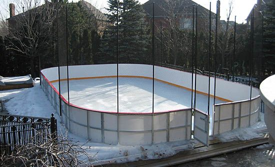 Residential Ice Rinks | 40' Portable rink over in ...