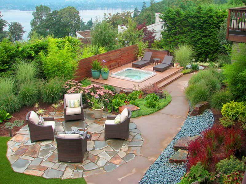 20 Beautiful Garden Design Ideas Always In Trend Small Backyard Landscaping Backyard Layout Backyard Design