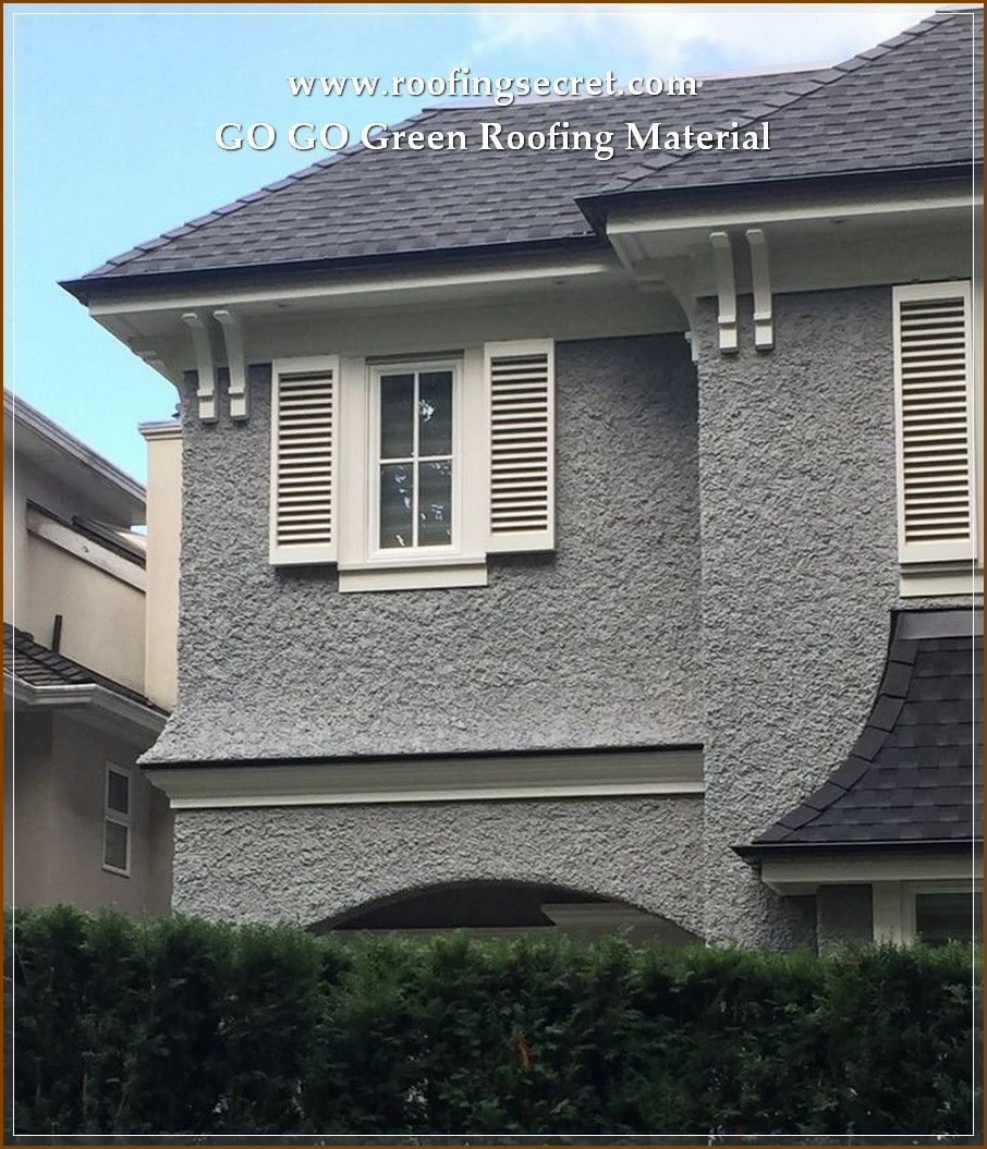 Solar Power Roof Panels Stucco Homes Stucco House Colors Grey