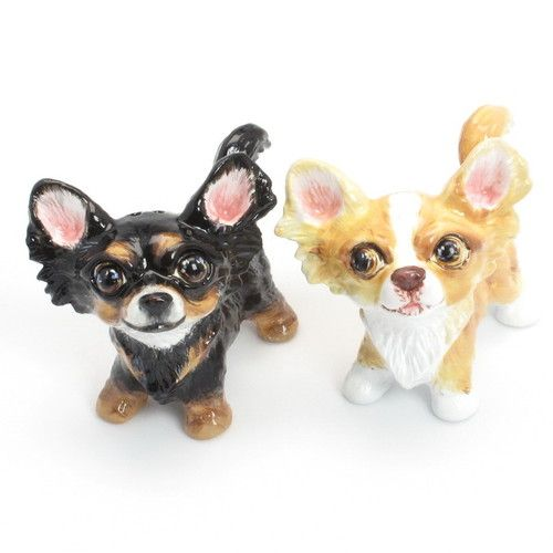 Chihuahua Lover Salt Pepper Shaker Figurine 00022 Dog Lover Collectible Gift Art