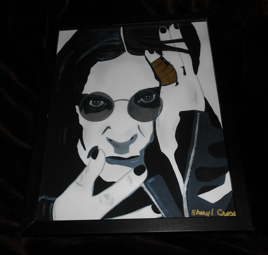 Painting I did of Ozzy