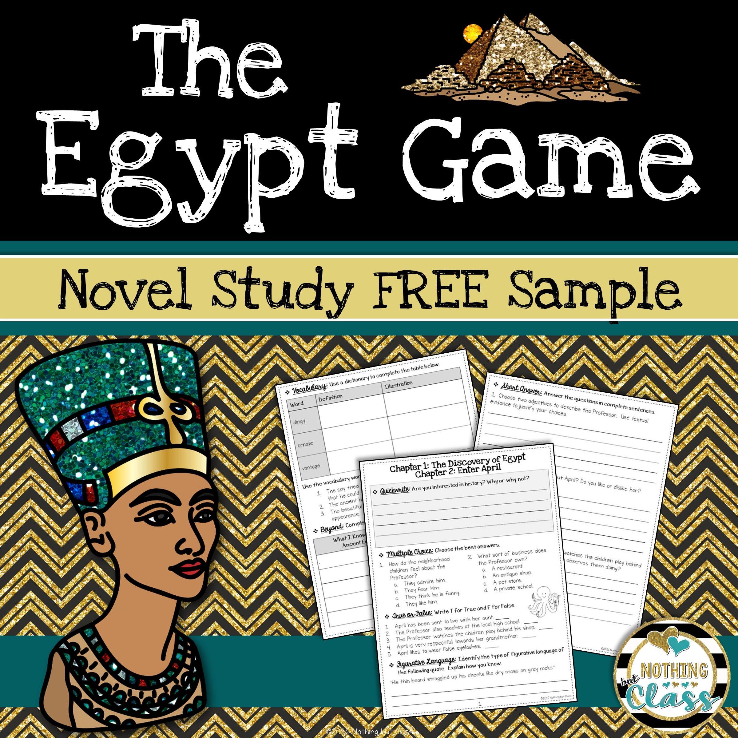 The Egypt Game Novel Study Unit Free Sample